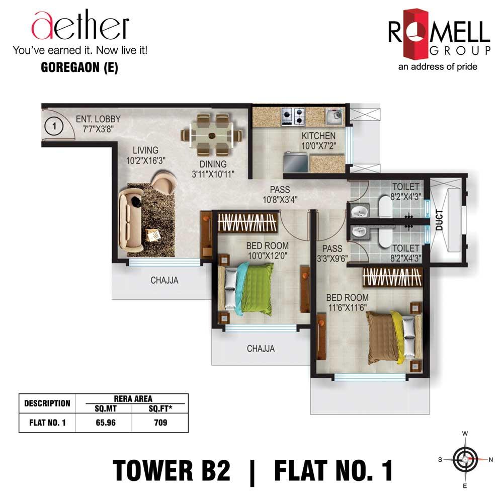 Romell Aether FloorPlan Flat1