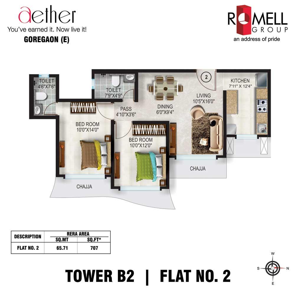 Romell Aether FloorPlan Flat2