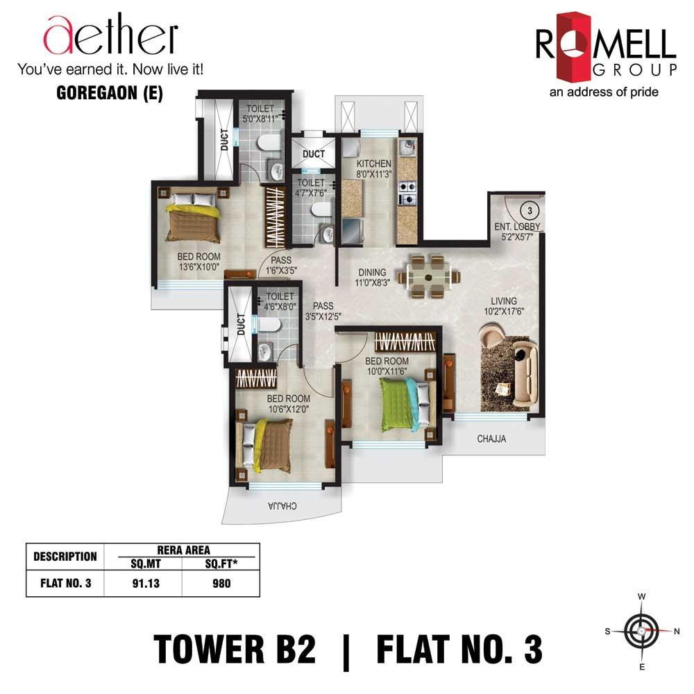 Romell Aether FloorPlan Flat3