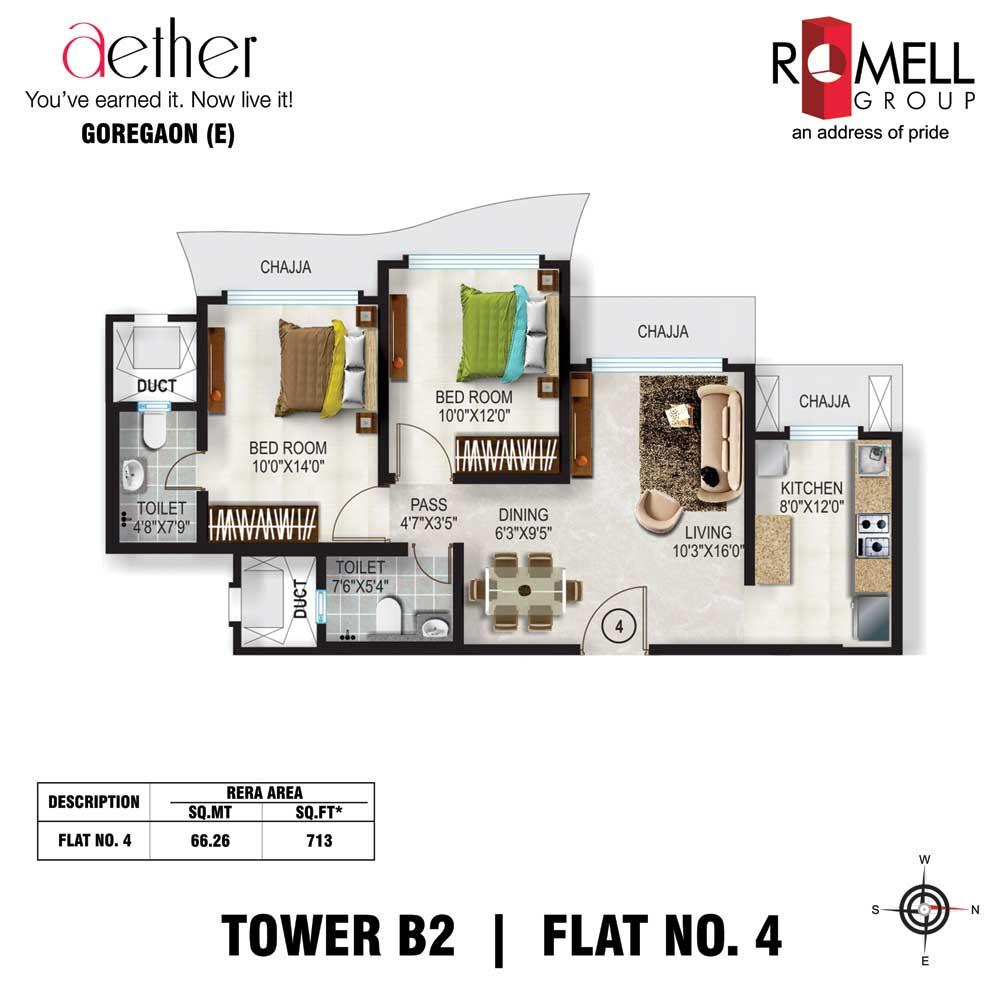 Romell Aether FloorPlan Flat4