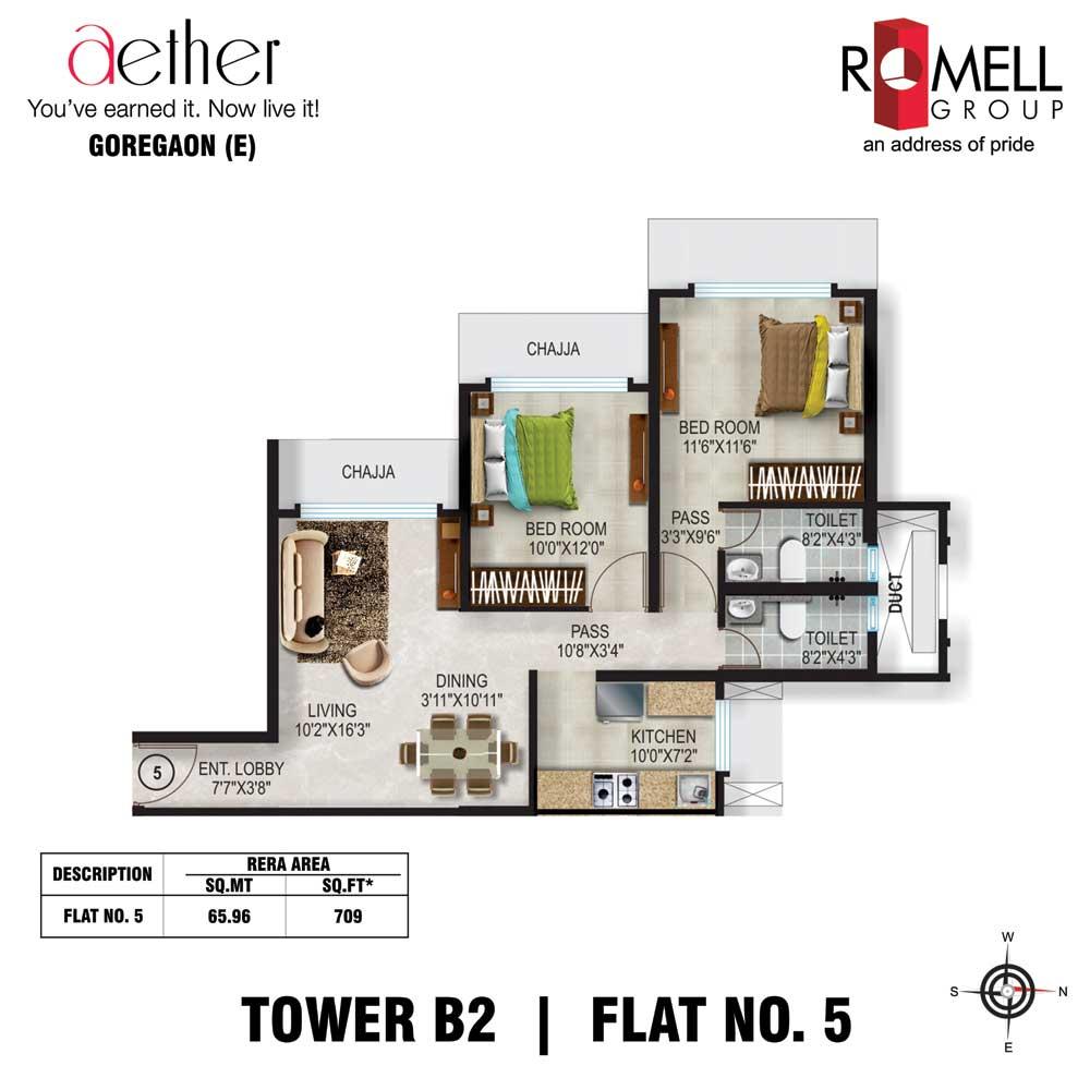 Romell Aether FloorPlan Flat5