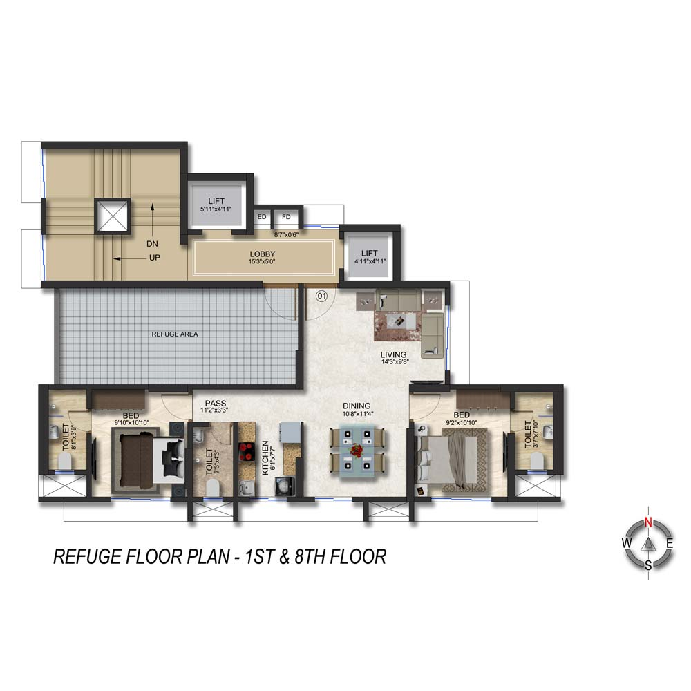 Romell Rhythm FloorPlan 3