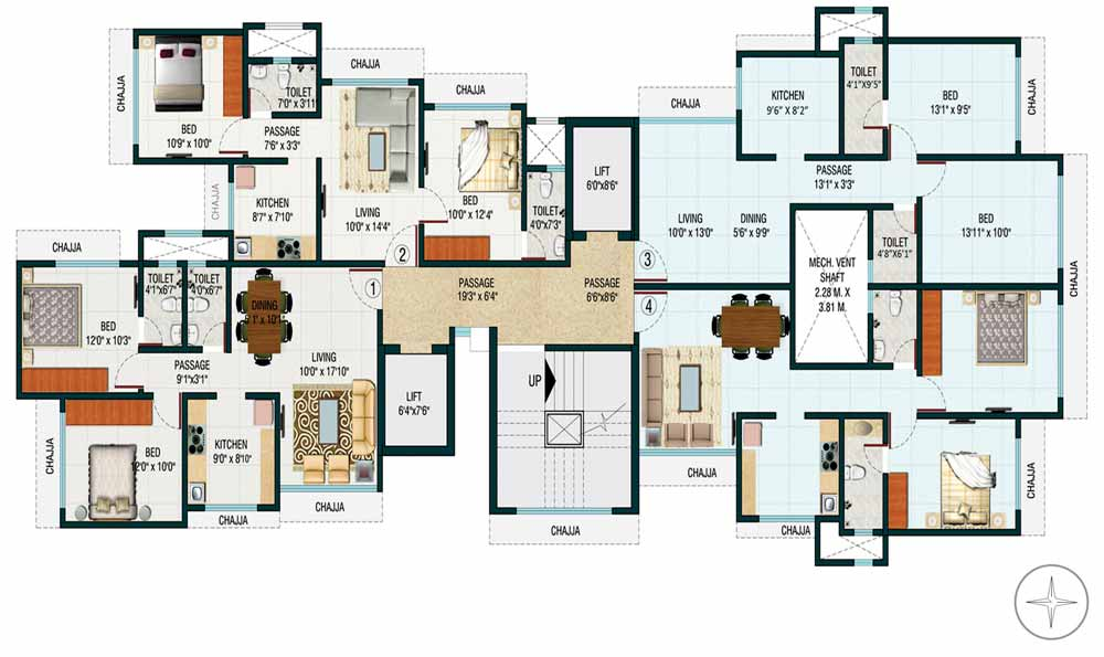 Romell Trimurti Floor Plan